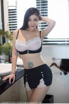 妩媚女神妲己_Toxic 蕾丝内衣空姐制服图片