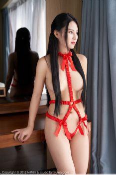 蜜桃社新人赵灵儿 古典气质红色情趣衣图片