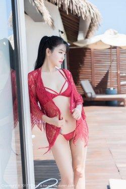 刘钰儿《红色镂空内衣+黑色真空睡衣》 [尤蜜荟YouMi] Vol.101