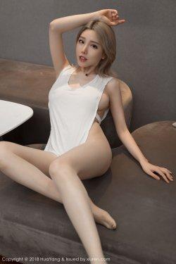 模特@黄楽然《诱惑激凸+丝袜美腿》 [花漾HuaYang] Vol.022