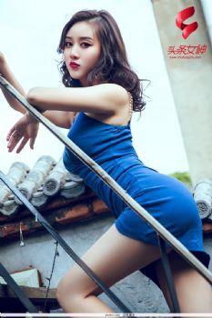 张梓然- [TouTiao头条女神]高清写真图 Y17.1-3 蓝色妖姬图片