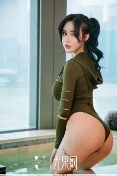 运动女郎陈幼依 牛仔裤豹纹比基尼
