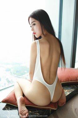 赵小米Kitty《Tokyo Hot高叉+吊带睡衣》 [花の颜HuaYan] VOL.045