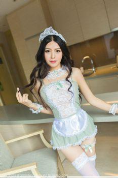 丽质新人语嫣Candy 蕾丝婚纱高贵清雅图片