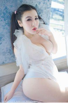 新晋大模MODEL伊若 白色蕾丝带状死库水图片