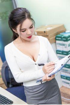 熟女气质王紫琳 办公司诱惑OL系列图片
